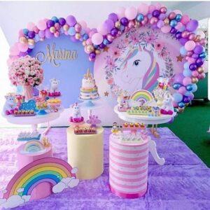 Bàn quà trang trí sinh nhật ngựa Pony cho bé gái BBX596