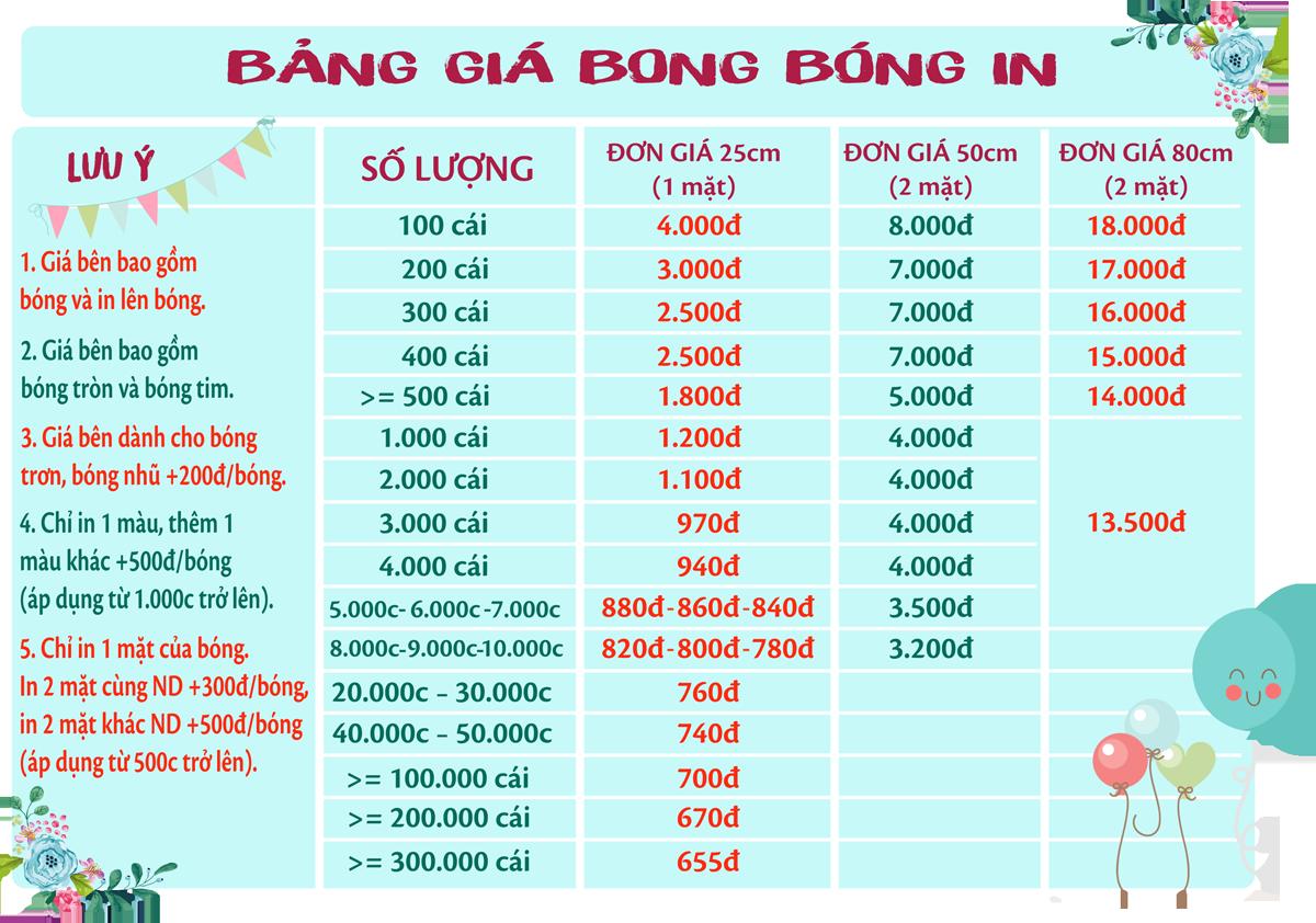 Bong bóng in Phong Vũ Computer