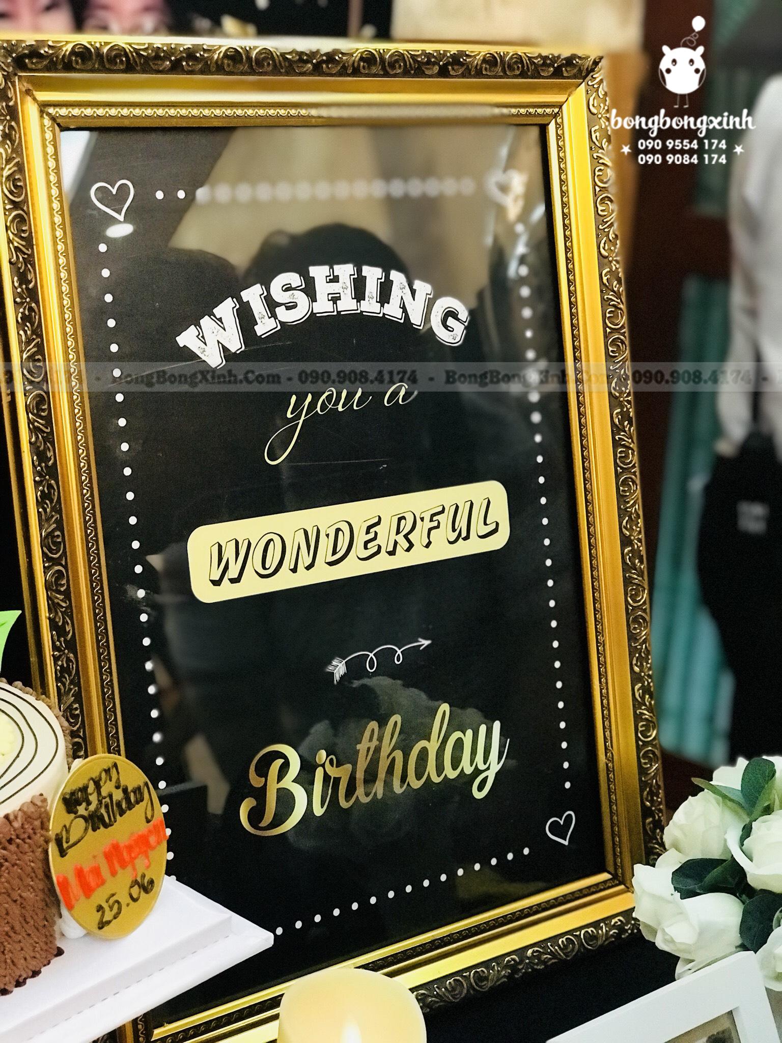Bảng tên bàn quà trang trí backdrop sinh nhật bạn gái BBBN151