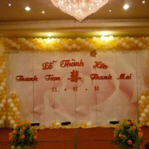 Sân khấu tiệc cưới 011