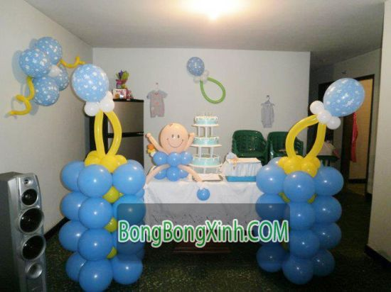 Trụ bong bóng 081 xinh xắn cho sinh nhật
