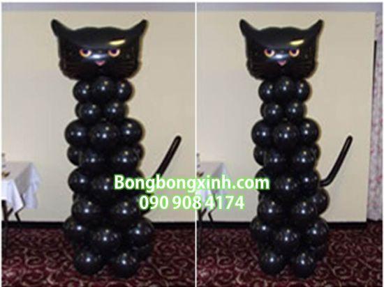 Trụ bong bóng 110 mèo đen (Black Cat)