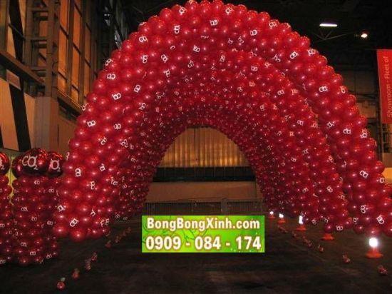 Trang trí cổng chào sự kiện đẹp màu đỏ nổi bật 088