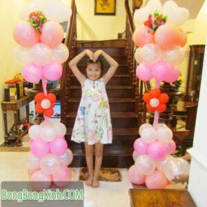 Trụ bong bóng thích hợp trang trí sinh nhật cho bé 114