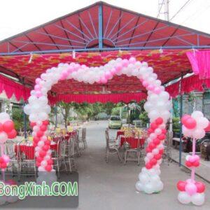 Cổng chào trang trí tiệc cưới hình trái tim 080
