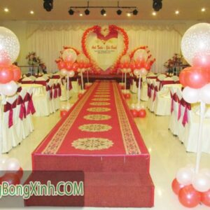 Đường dẫn tiệc cưới trụ bong bóng lồng 030
