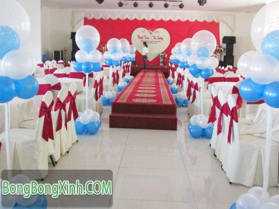 Đường dẫn tiệc cưới xanh nước biển 032