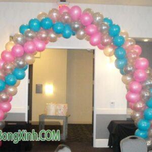 Cổng chào trang trí tiệc cưới ba màu 085