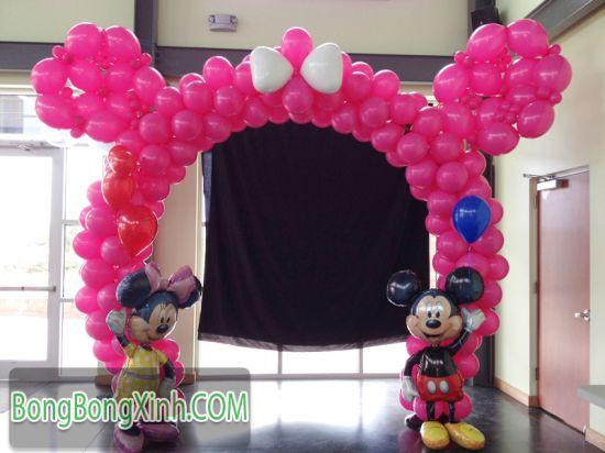 Cổng chào tai chú chuột Mickey màu hồng 0110