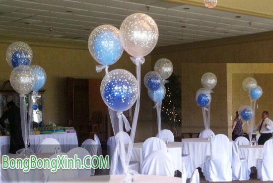 Bàn tiệc bong bóng lồng 048