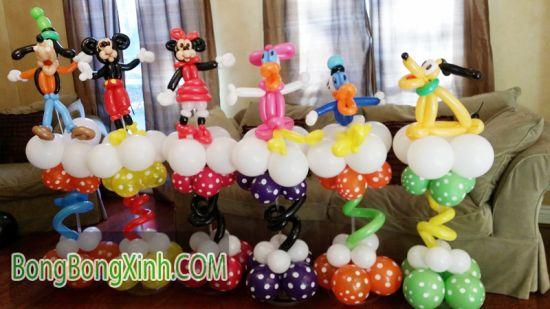 Bong bóng số có thể kết hợp cùng trụ bong bóng Disney 117