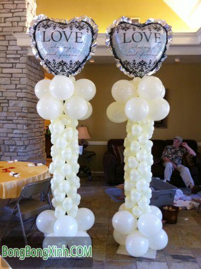 Trụ bong bóng LOVE cho tiệc cưới 119