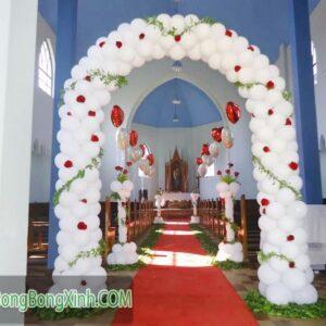 Cổng chào trang trí lễ cưới màu trắng CA100