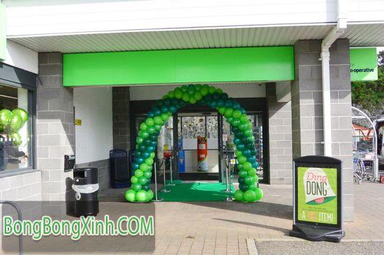 Cổng chào khai trương màu xanh lá CC047
