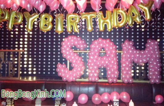 Chữ bong bóng tặng sinh nhật SAM CBB034