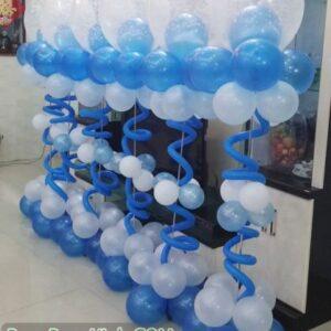 Trụ bong bóng lồng màu xanh TBB130