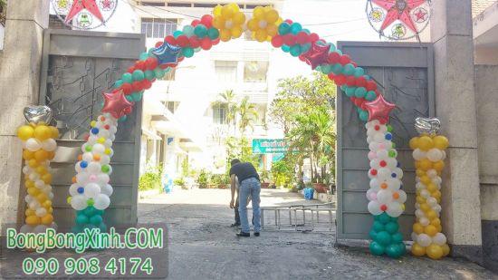 Cổng chào bong bóng trang trí sự kiện bên ngoài CD125