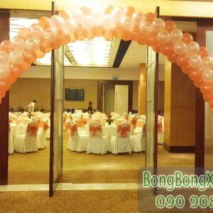 Cổng chào tiệc cưới màu cam đơn giản CA107