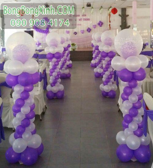 Đường dẫn tiệc cưới màu tím xinh đẹp DDTC036