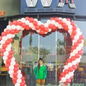 Cổng chào bong bóng dành cho tiệc cưới xinh đẹp CA110