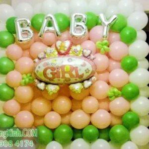 Tường bong bóng trang trí sinh nhật đáng yêu cho bé TBB033