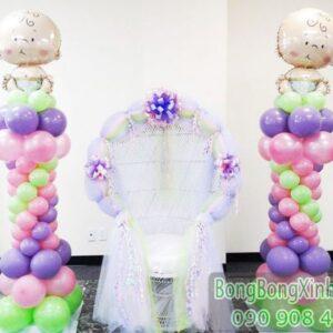 Trụ bong bóng trang trí sinh nhật đáng yêu TBB135