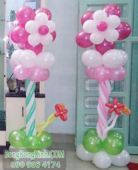 Trụ bong bóng hoa trang trí sinh nhật TBB137