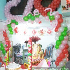 Cổng chào tiệc cưới trái tim trang trí tại nhà CA112