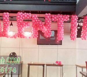 Trang trí bong bóng chữ trong ngày valentine CBB040