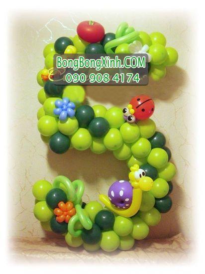Sản phẩm trang trí bong bóng số mừng sinh nhật bé SBB015