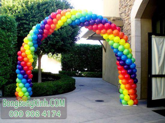 Cổng chào bong bóng trang trí sự kiện sắc màu CD139