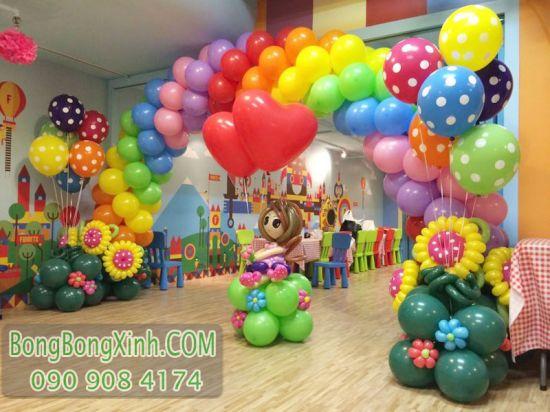 Cổng chào bong bóng trang trí sinh nhật nghệ thuật CB137