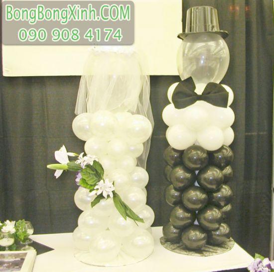 Bong bóng tạo hình cô dâu và chú rễ xinh đẹp DR059