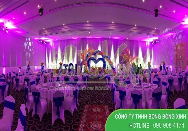 Sân khấu trang trí tiệc cưới SS039