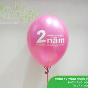 Bong bóng in chữ Happy Birthday cho siêu thị AEON MALL BBI017
