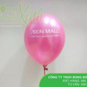 Bong bóng in chữ Happy Birthday cho siêu thị AEON MALL BBI018