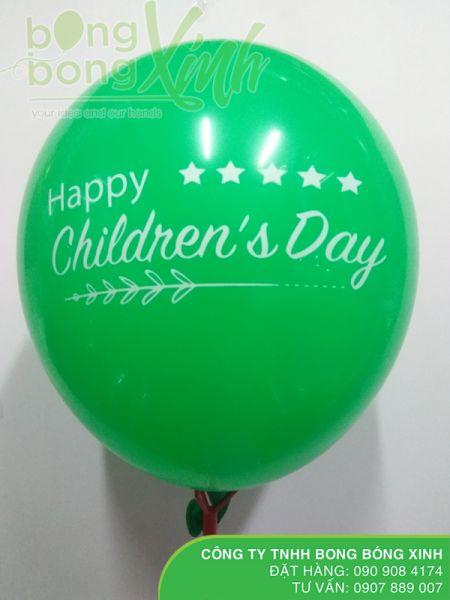 Bong bóng in chữ quảng cáo sự kiện Happy Childrens Day BBI019