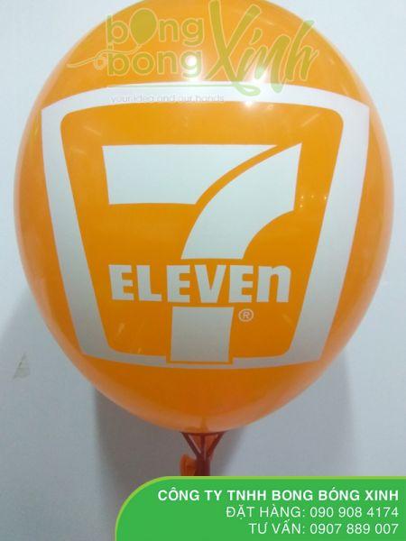 In logo lên bong bóng thương hiệu 7eleven BBI036