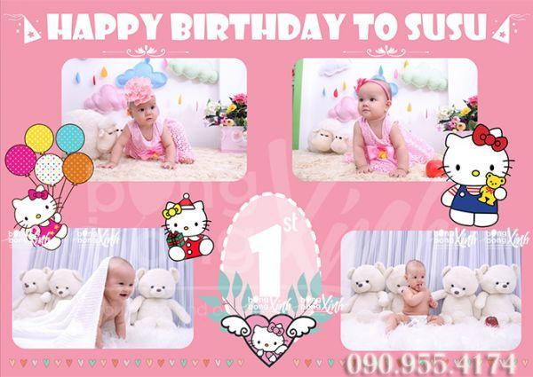 Backdrop sinh nhật Hello Kitty 006