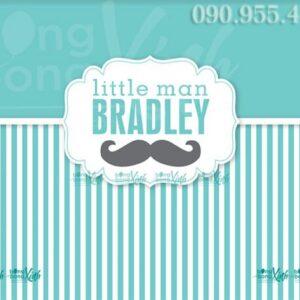 Backdrop sinh nhật bé trai Little Man Bradley 007