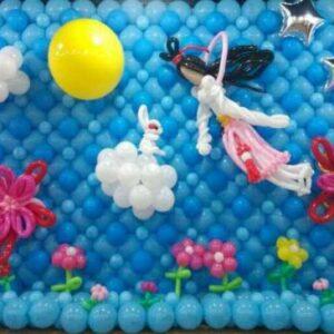 Tường bong bóng đẹp trang trí trung thu cho bé TBB034