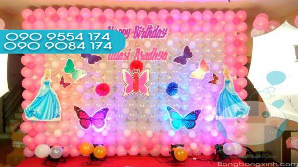 Tường bong bóng trang trí sinh nhật TBB038