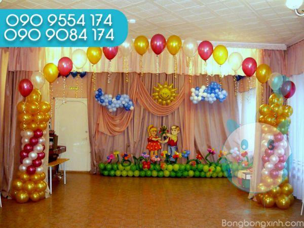 Trang trí sân khấu sinh nhật cho bé SK055