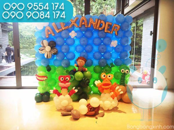 Trang trí sinh nhật cho bé với tường bong bóng TBB041