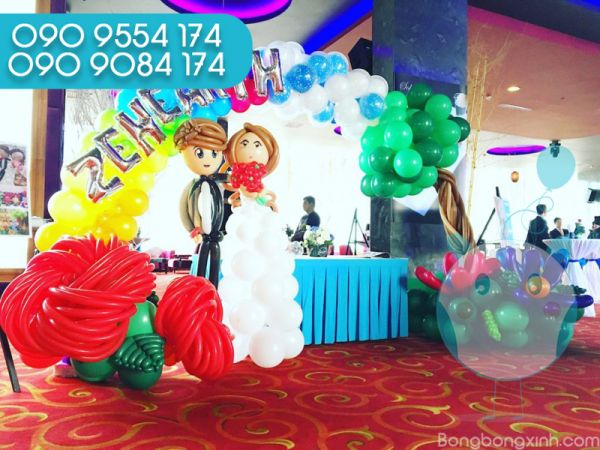 Trang trí bàn ký tên tiệc cưới BKT041