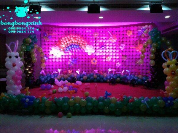 Sân khấu trang trí sinh nhật cho bé SK059
