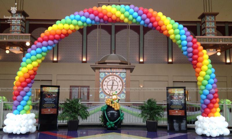 Cổng chào sinh nhật bong bóng Rainbow CB138