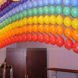 Tường bong bóng sinh nhật mái vòm TBB051