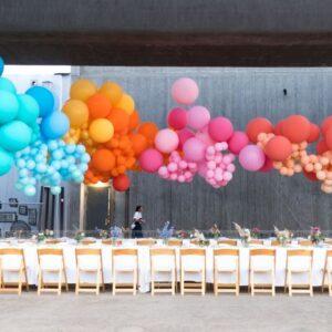 Bong bóng bay 7 màu trang trí bàn tiệc BB075
