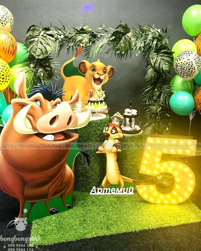 Bàn gallery sinh nhật Lion King BQ191